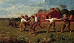 snap the whip by winslow homer oil paintings