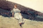 winslow homer the garden wall painting
