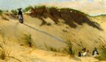 winslow homer the sand dune painting