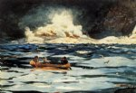 winslow homer watercolor paintings - under the falls the grand discharge by winslow homer