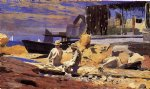 winslow homer waiting for the boats painting 22094
