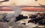 winslow homer watercolor paintings - west point prout s neck by winslow homer