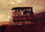 white mountain wagon by winslow homer oil paintings