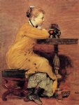 elephant acrylic paintings - woman and elephant by winslow homer