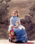 winslow homer woman sewing painting