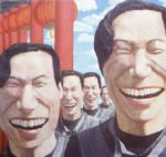 yue minjun wild laugh paintings